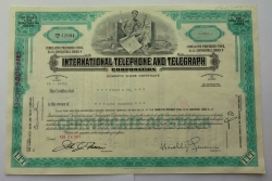 Akcie - Internacional telephone and telegraph corporation - USA
